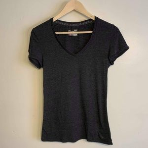 Under Armour Fitted Grey V neck Tee- Small